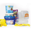Plastic containers and plastic bags