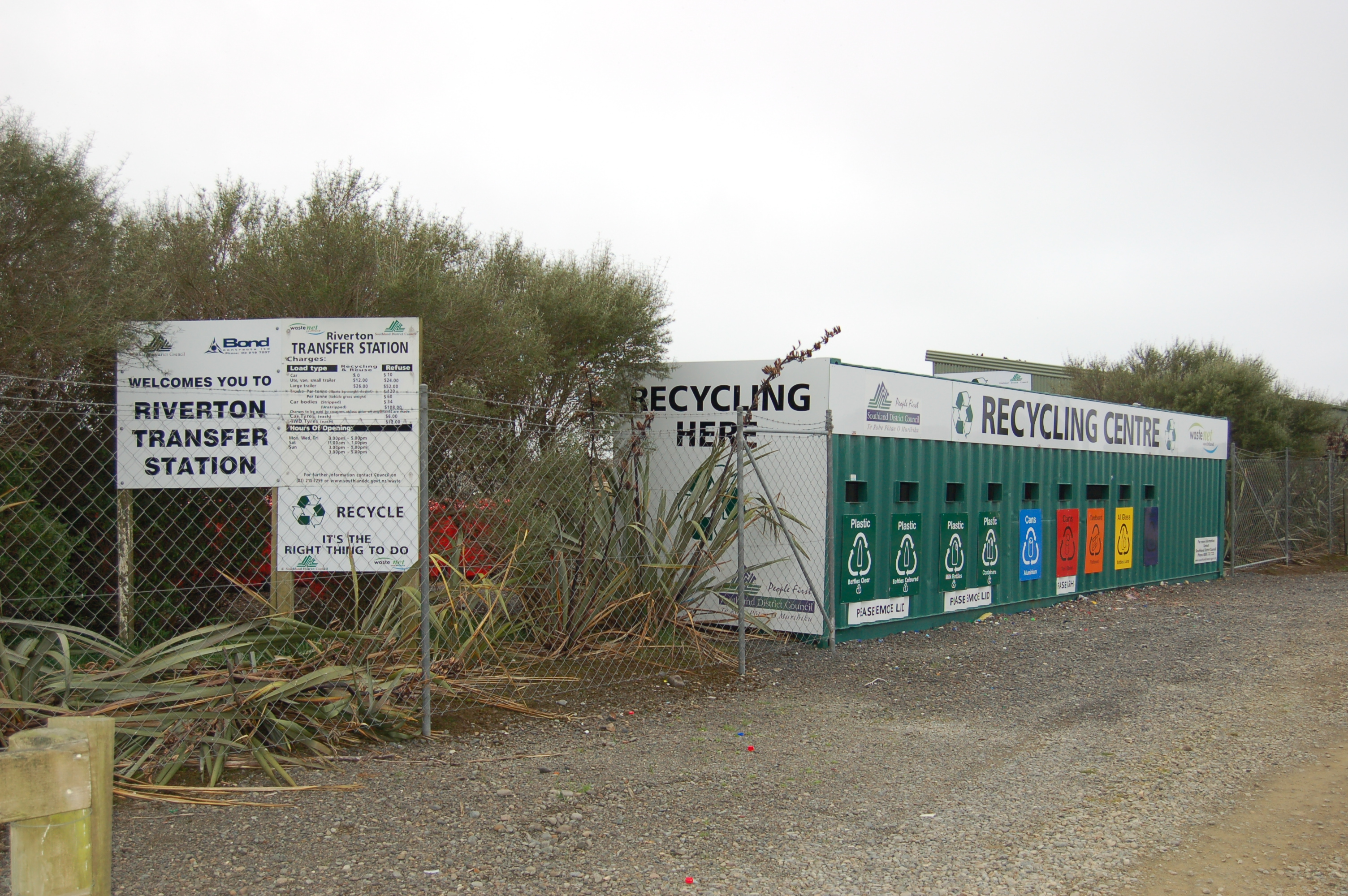 Riverton Recycle Centre located at 1 Havelock Street, Riverton