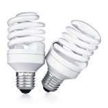 Two CFL lightbulbs