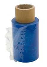 A roll of cling film (shrink wrap)