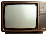 an old television set